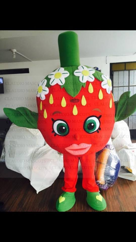 Strawberry Kiss Shopkin Event Mascots Costume Hire