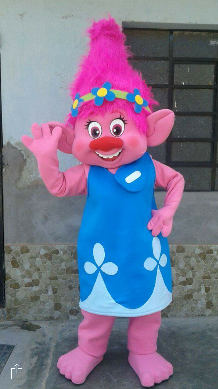poppy troll event mascots costume hire